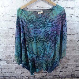 Live and Let Live Sheer Snakeskin Print Tunic